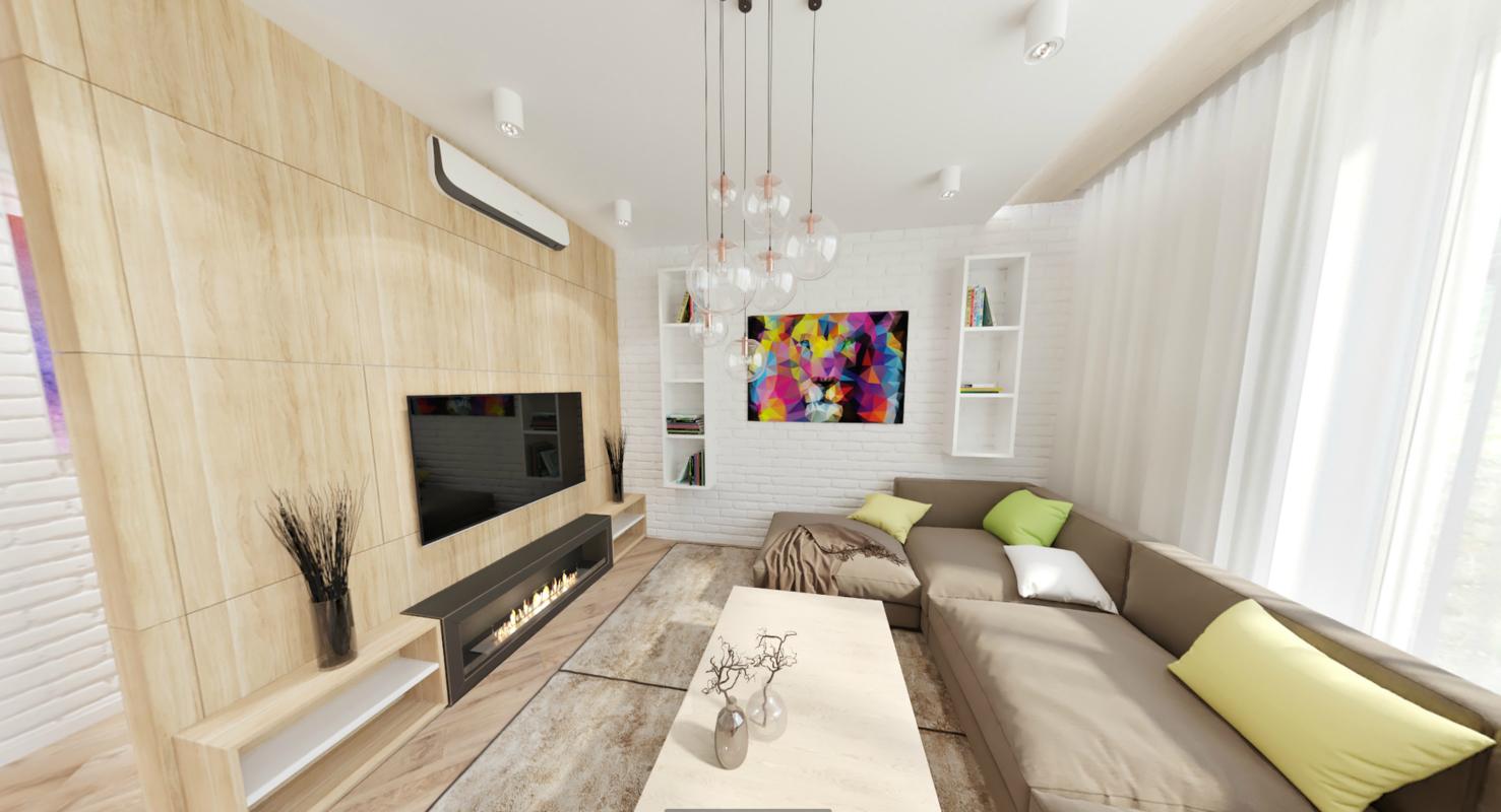 3D kitchen room interior