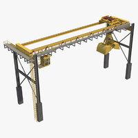3D model crane overhead 1