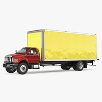 straight truck generic simple 3D model