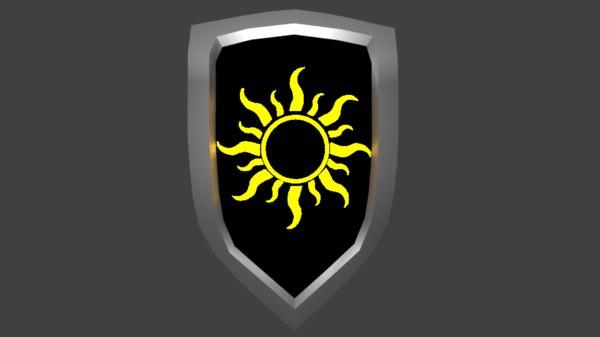 escudo da luz shield 3D model