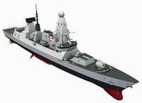 TYPE-45 DESTROYER HMS DIAMOND