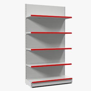 3D model retail store display shelving