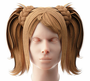 3D female hairstyle 1