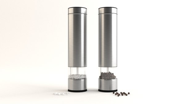 salt pepper grinders 3D model