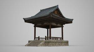 3D ancient architectural pavilion