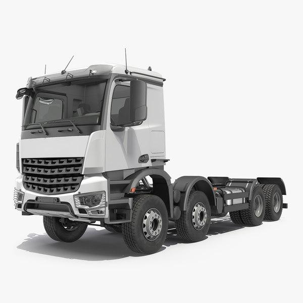 heavy utility truck 8x8 3D model