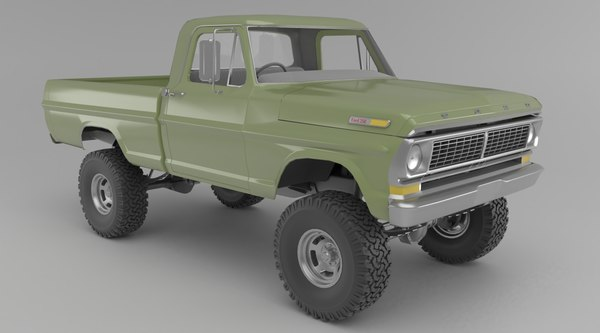 1970 f250 customized 3D model
