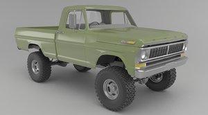 1970 f250 customized 3D model