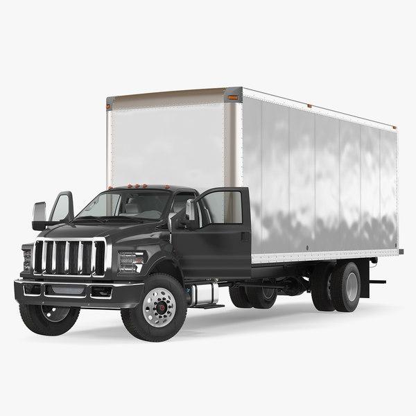 3D straight truck vehicle generic
