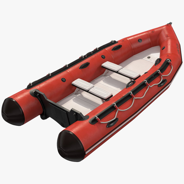 3D model rigid-hulled inflatable boat