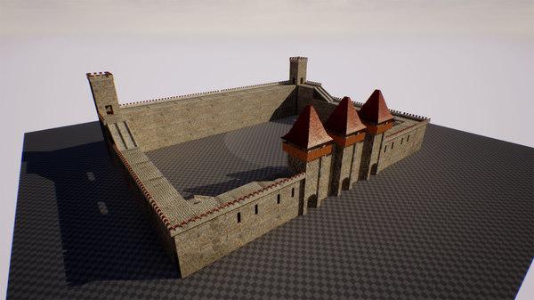 modular castle pack interriors 3D model