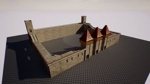 modular castle pack interriors 3D model