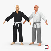 Karate Fighters 3D Models Collection