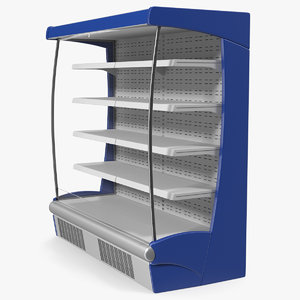 3D wall site multideck refrigerator model