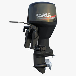 3D outboard motor