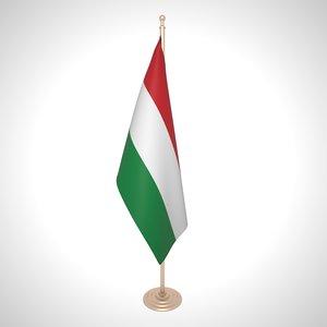 hungary flag 3D model