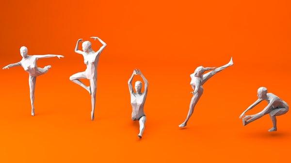 female ballet skating 5 3D
