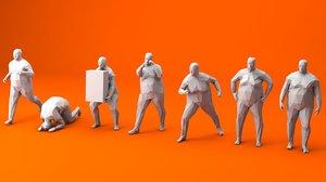 3D 7 fat man model
