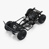 atv 4x4 frame suspension 3D
