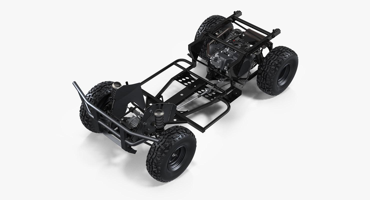 Cuadro y suspensión ATV 4x4