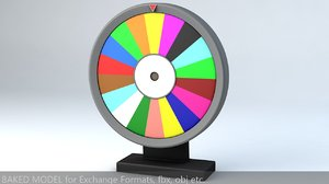 wheel rotated 3D model