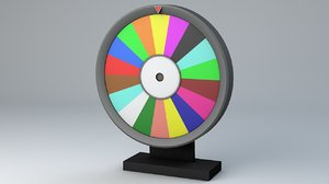 wheel rotated games 3D model