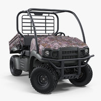 Utility Vehicle 4x4 Camo Rigged 3D Model