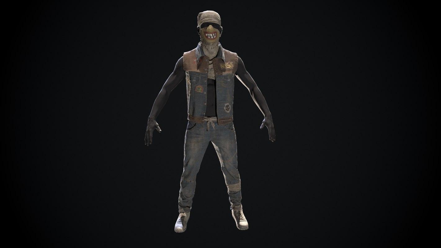 man wear 3D model