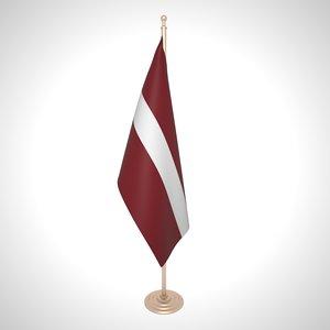3D latvia flag