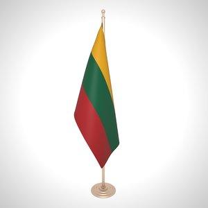 lithuanian flag 3D model