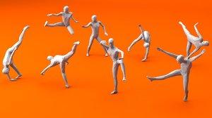 3D kung fu martial artists