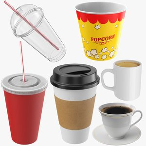 cups modeled contains 3D model