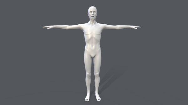 3D male basemesh