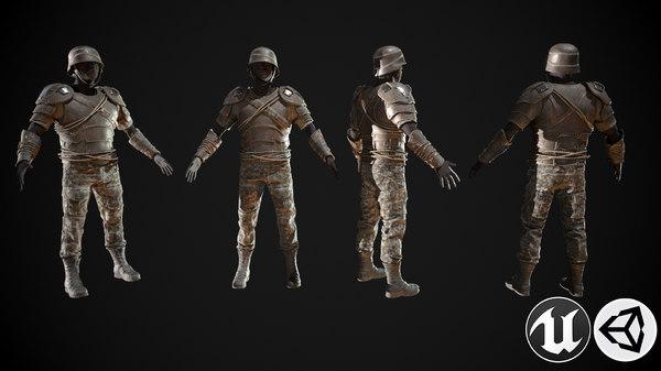 skull armor 3D