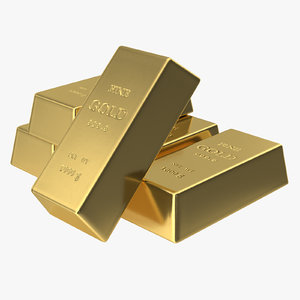 golden bars 1000g 3D model