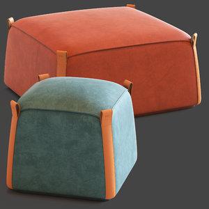ulivi manon pouf 3D model