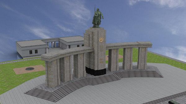3D soviet war memorial tiergarten model
