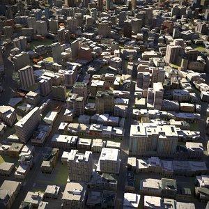 3D town city cityscape