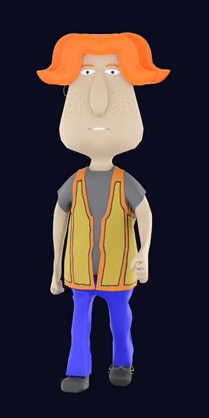 character cartoon male teenager 3D model