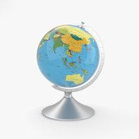 3D globe globus model