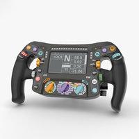 f1 wheel steering 3D model