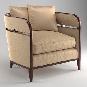 3D caracole seat chair brackets model