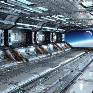 space hangar 3D model