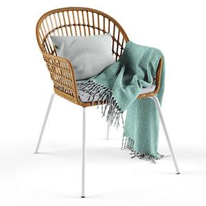 3D nilsove ikea armchair model