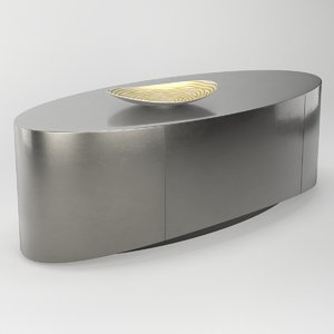3D model table caracole oval