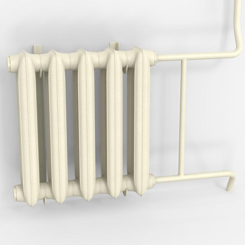 radiator iron 3D model