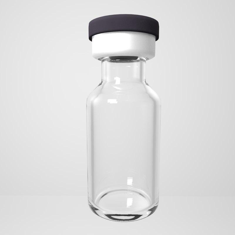 ampule bottle medical vial 3D model