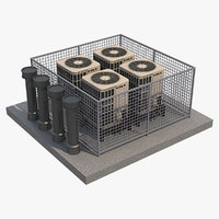 3D ac outdoor unit 3