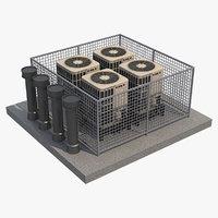 3D ac outdoor unit 3