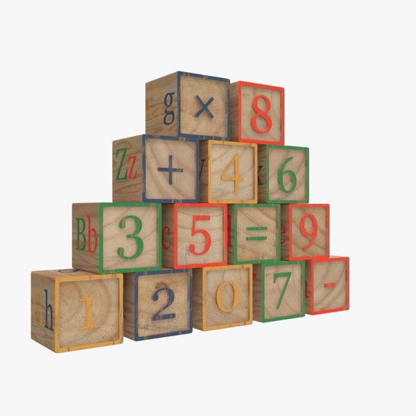 alphabet blocks 2 3D model